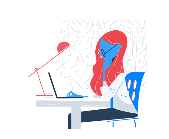 Lady working